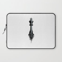 Farewell to the King / 3D render of chess king breaking apart Laptop Sleeve