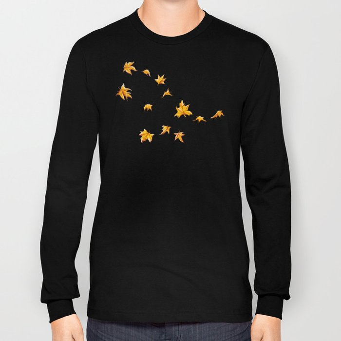 Leaves pattern Long Sleeve T-shirt