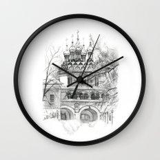 Winter Joseph-Volokolamsk Monastery SK031 Wall Clock