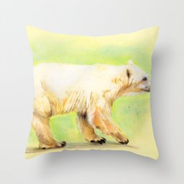 Polar Grizzly bear Throw Pillow