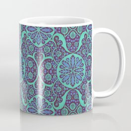 Poppy Pods Mint and Purple Coffee Mug