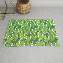Lily of the Valley Pattern Rug