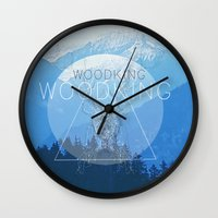 woody Wall Clocks featuring WOODY by Kath Korth