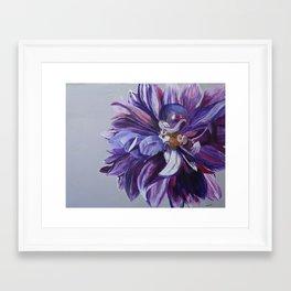 Purple Peony Framed Art Print