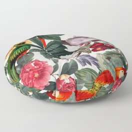 Floral and Birds XXXIX Floor Pillow