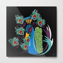 Lady Peacock - (The Marvelous Colors of a Lollipop) Metal Print