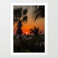 Mexico Sunset Art Print