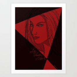 Le Veuve Noire - The Black Widow Art Print