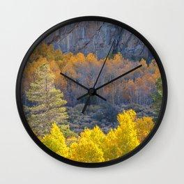 Sunlight on Aspens Wall Clock