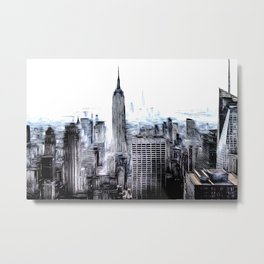 Manhattan Art Metal Print