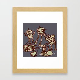 Robot Dance Parties Have Replaced Mondays Framed Art Print