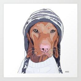 Vizsla Dog Art Print