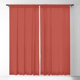 Bold Invention Red Solid Color Accent Shade / Hue Matches Sherwin Williams Habanero Chile SW 7589 Blackout Curtain