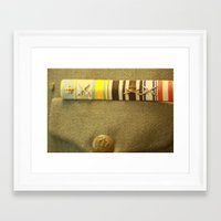 military Framed Art Prints featuring Military by sannngat