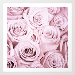 Pink Roses Flowers - Rose and flower pattern Art Print