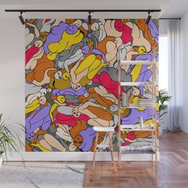 Sleepy Heads - Ruby Violet Gold Wall Mural
