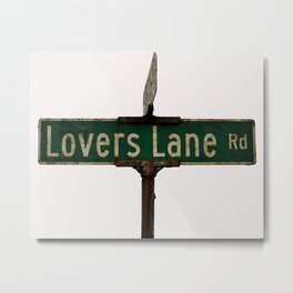 LOVERS LANE Metal Print
