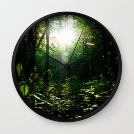 The Path through the Forest Wall Clock