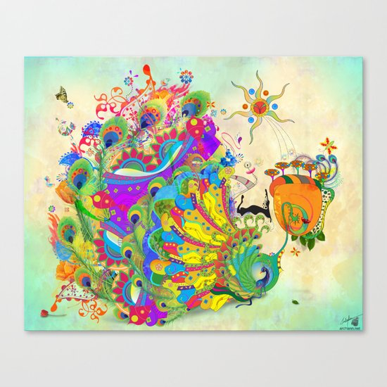 The Peacock Dance Canvas Print