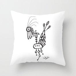 Dead Bird Throw Pillow