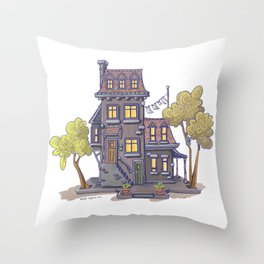 Ze house Throw Pillow