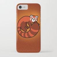 ferret iPhone & iPod Cases featuring Fire Ferret by  terrorbunnystudios