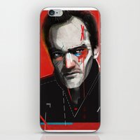 quentin tarantino iPhone & iPod Skins featuring Quentin Tarantino by Zaneta Antosik