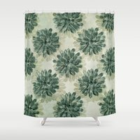succulents Shower Curtains featuring Succulents by Sandra Arduini