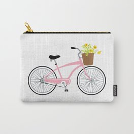 Bicycle Pink Carry-All Pouch