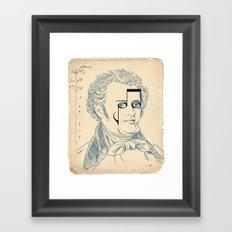 Franz Schubert Framed Art Print