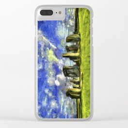 Stonehenge Vincent Van Gogh Clear iPhone Case