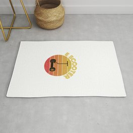 Vintage Retro Electric Scooter - Kick Scooter Stunt Scooter  Rug