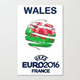 WALES UEFA EURO 2016 Canvas Print