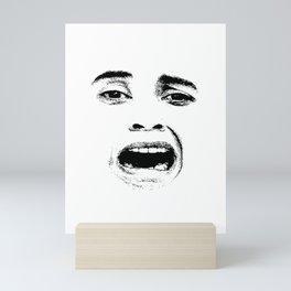 Scared Woman Expression Face Mini Art Print