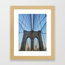 Brooklyn Bridge (in color) Framed Art Print