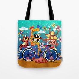 Ridin' Happy Gang Tote Bag