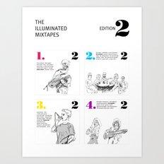 The Illuminated Mixtapes, Edition 2 Art Print