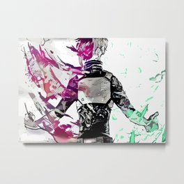 Half-Cold Half-Hot Metal Print