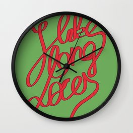 Laces for Guys Wall Clock