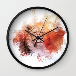 Expressions Lioness Wall Clock