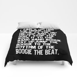 Rappers Delight Hip Hop Music lyrics White Comforters