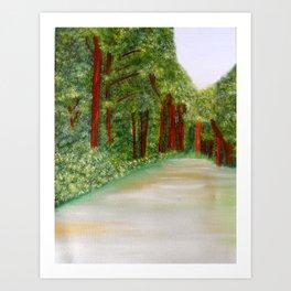 Oltrarno Park Art Print
