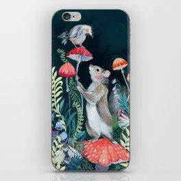Mushroom garden iPhone Skin