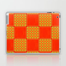Orange Checks - Plain Orange and Orange Patterened Check Design Laptop & iPad Skin