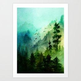 Mountain Morning Kunstdrucke