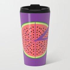 Watermelon Pizza Metal Travel Mug