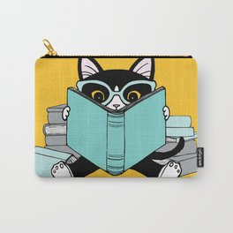 Bookish Clever Kitty Carry-All Pouch
