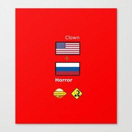 Clown Horror Canvas Print