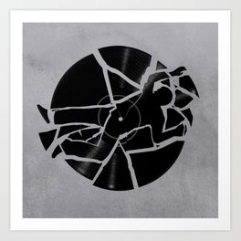 Broken Record Art Print