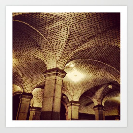 Downtown Subway Station, NYC Art Print